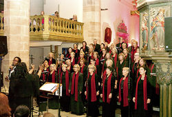 Gospelchor Voices, Hearts & Souls in der Stadtkirche, Balingen