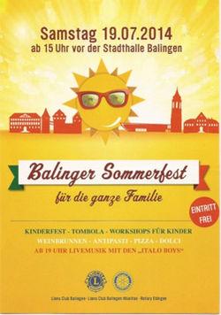 Einladungsflyer Sommerfest